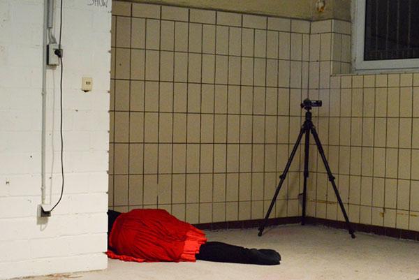 body laying on floor